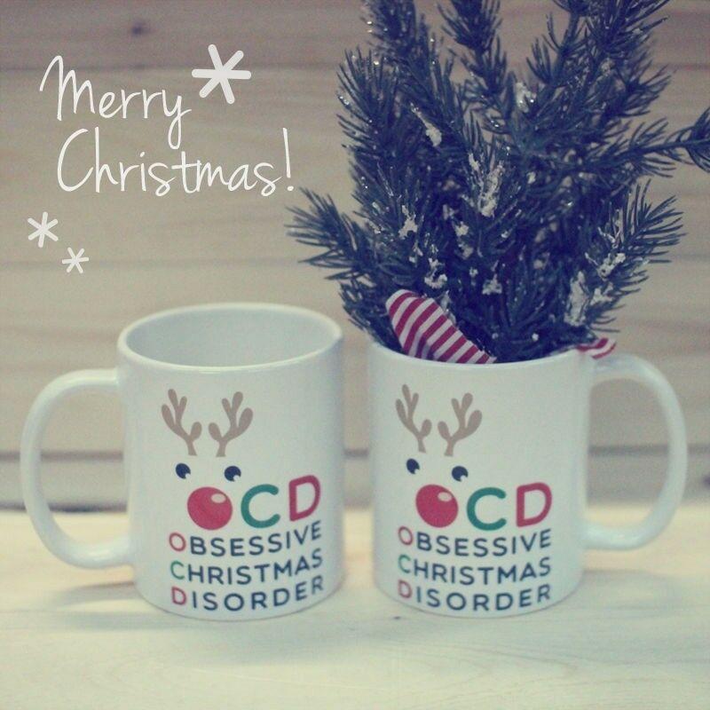 OCD Obsessive Christmas Disorder Coffee Mug - Funny X-Mas Mug (JMC002) image 3