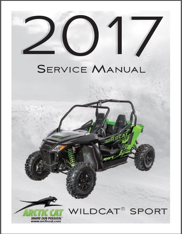 2017 Arctic Cat Wildcat Sport Service Repair Workshop Manual CD