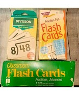 Vtg Classroom Ideal Fraction Advanced Trend Fraction Fun Division Flash ... - $39.99