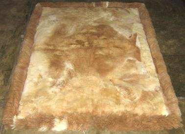 Soft baby alpaca fur carpet, with natural spots, 300 x 200 cm/ 9'84 x 6'56 ft