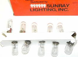 BOX OF 10 NEW SUNRAY LIGHTING 7C7/G-120V-I LAMPS