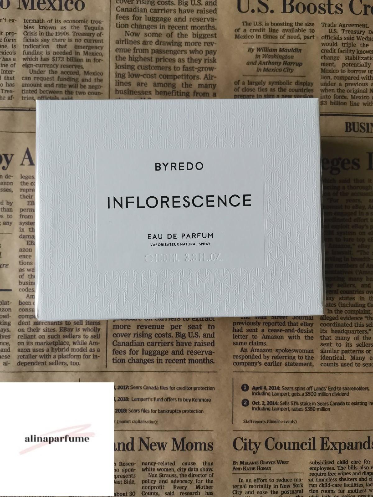 Byredo Inflorescence Eau De Parfum Spray 100 ml / 3.3 fl.oz For Woman, In box - $110.20