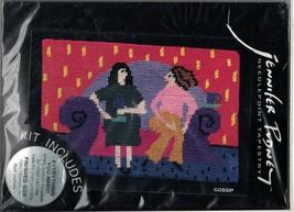 Jennifer Pudney Gossip Needlepoint Tapestry Kit 6 x 4 Women on Sofa New - $42.13