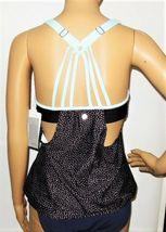 NEXT Black with Light Blue Dots Blouson Swimsuit Top Size 32 B/C image 3