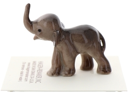 Hagen-Renaker Miniature Ceramic Wildlife Figurine Elephant Cartoon Baby