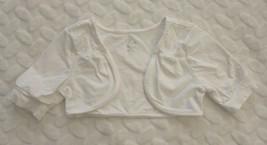Childrens Place Girls Cardigan Size 5 6 White Bolero Lace Insert Casual Summer - $19.79