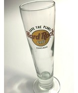 "Hard Rock Cafe HRC Chicago Save The Planet 10"" Tall Pilsner Beer Glass 14oz - $14.80"