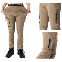 Men Pants Hiking Fishing Camping Outdoor Summer Quick Dry Male Removable... - $628,00 MXN+