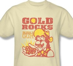 Gold Rocks Candy T-shirt retro 80's beige distressed cotton graphic tee DBL115 image 2