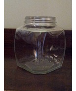 Vintage 1930s Hoosier Ribbed Glass Jar Canister - $18.00