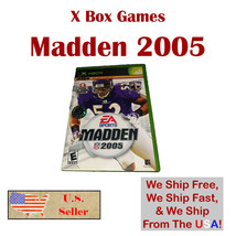 Madden NFL 2005 (Microsoft Xbox, 2004) Football Complete in Box with Manual CIB  - $6.99
