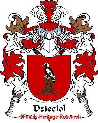DZIECIOL Polish Coat of Arms Print DZIECIOL Family Crest Bonanza