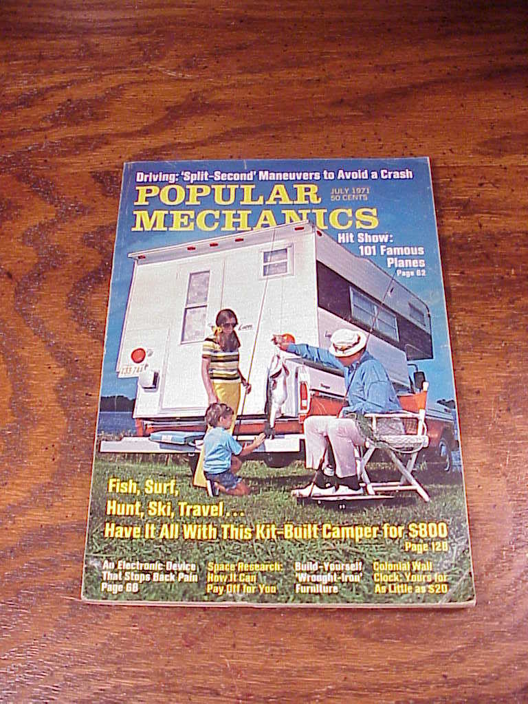 1971 Popular Mechanics USS Spruance First Look Article About the New Ship