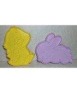 Lot of 2 Hallmark Cards Easter Cookie Cutters Duck Chick Bunny Rabbit - $5.99