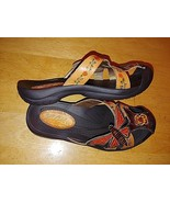 ELITE by CORKYS LADIES TOOLED LEATHER/HAND PAINTED SLIP-ON SHOES w/BUMP ... - $38.00