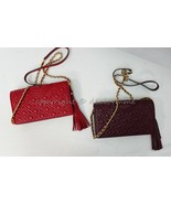 NWT Tory Burch Fleming WOC/Wallet Crossbody Bag / Clutch in Claret and R... - $269.00