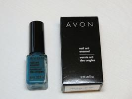 Avon Nail Art Enamel Blue Vibe 6 ml 0.20 fl oz nail polish mani pedi;; - $19.79