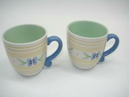 EUC Large 2 Mug Summer Breeze by PFALTZGRAFF Height 4 3/8 in Coffee/Tea ... - $11.97