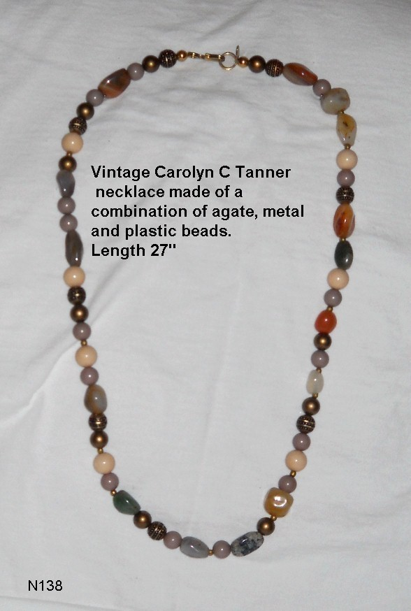 Carolyn C Tanner Vintage Beaded Necklace