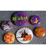 6 New Witchy Halloween Candy Corn Lapel Button Pins - $5.99