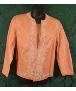 Susan Graver Womens 2pc Top & Embroidered Jacke... - $19.95