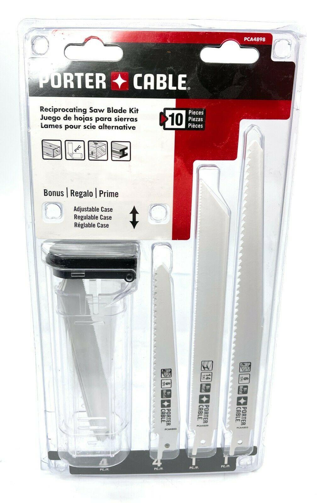 Porter-Cable PCA4898 10-Piece Reciprocating Saw Blade Set - $34.64