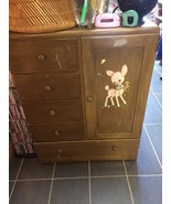 Vintage Chest Of Drawers Lamb Decal in Front - $50.25