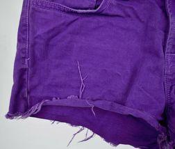 J Brand 7037 Bright Purple Cut Off Short Jeans 26 Womens USA image 7