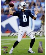 Marcus Mariota signed Tennessee Titans 8x10 Photo #8 (navy jersey)- Mari... - $47.95