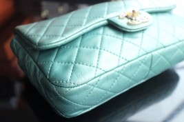 100% Authentic Chanel Limited Edition Turquoise Jewel CC Flap Bag GHW image 5