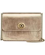 NWT Coach Bowery Crossbody Metallic Smooth Leather gold Platinum - $169.99
