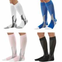 Long Sport Socks Unisex Elastic High Compression Running Hiking Basketball - $7.99