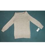 Charter Club Petite Womens Silver Metallic Gray Cowl Neck Sweater Size P/P - $18.55