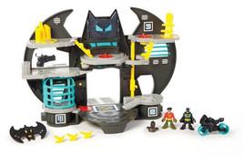 Fisher-Price Imaginext DC Superfriends Batcave w Batcycle + 2 Figures NI... - $49.95