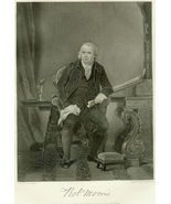 19th c. Engraving ROBERT MORRIS Pennsylvania Si... - $10.00