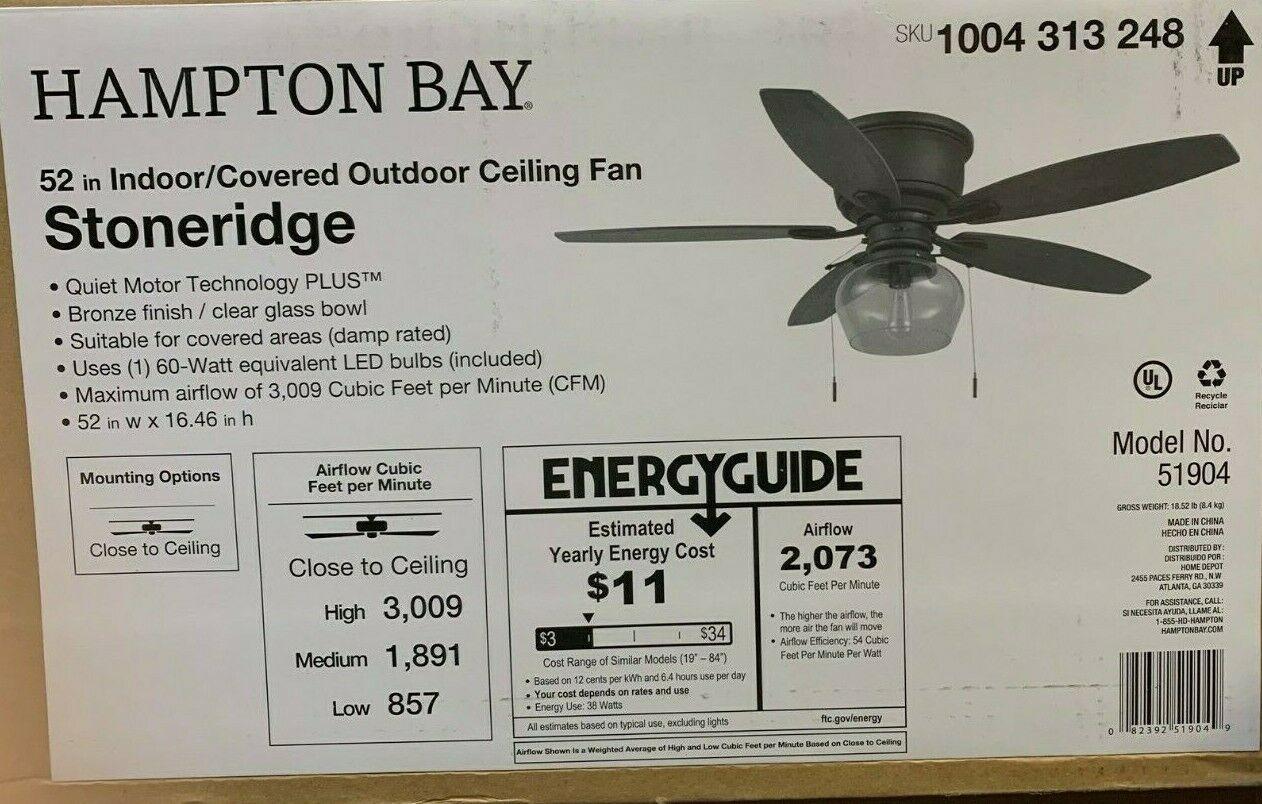 Hampton Bay Stoneridge 52 In Indoor Outdoor And 50 Similar Items