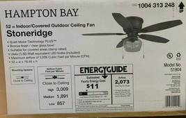 Hampton Bay Stoneridge 52 in. Indoor/Outdoor Bronze Hugger Ceiling Fan 5... - $98.99