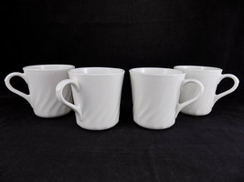 CORELLE by Corning White Emhancement Pattern Coffee Cup Set of 4 - $12.86