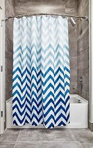 InterDesign 52020 Ombre Chevron Fabric Shower Curtain - (Ombre Blue|Set ... - $34.22