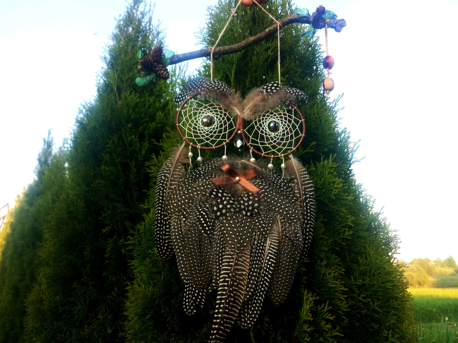 Owl Dream Catcher Brown Dream Catcher Bohemian Dream Catcher Native American Dre