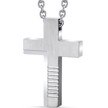 Stainless Steel Abstract Cross Pendant - $59.99