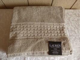 """$34.00 Lauren Ralph Lauren Pierce Bath Towel 30"""" x 56"""", Natural - $11.14"""
