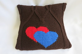 Handmade knitted decorative cushion cover - home decoration - 40 x 40 cm - $25.00