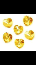 Swarovski Crystal 6228 18mm, Heart Pendant Yellow 1pcs - $2.20