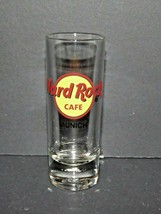 "Hard Rock Cafe Shot Glass Munich Germany 4"" Tall Pre-owned (Z) - $19.79"