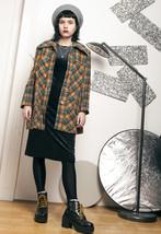 70s vintage plaid wool coat - $72.18