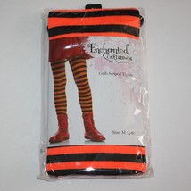 Enchanted Costumes by Leg Avenue Orange Striped Tights 4 5 6 NWT - $5.99