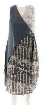 Halston Appeal Panel Slvless Color-Block Asymmetric Dress Granite 6 NEW ... - $29.68