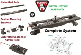 BULLDOG COMPLETE UNDERBED GOOSENECK TRAILER HITCH SYSTEM FOR 07-17 TOYOT... - $415.96