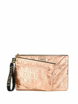 Victoria's Secret Rose Gold Clutch 2 Bag Set Keychain Limited Edition NWT - $20.78
